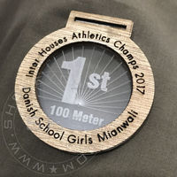 Customised Innovative Wood and acrylic medals