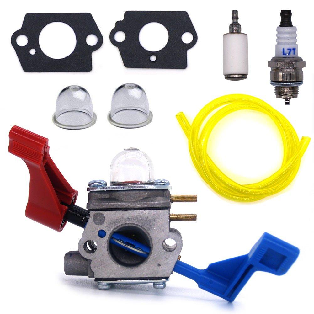 FitBest New Carburetor for Zama C1U-W12B C1U-W12A Poulan FL1500 FL1500LE Gas Leaf Blower 530071629
