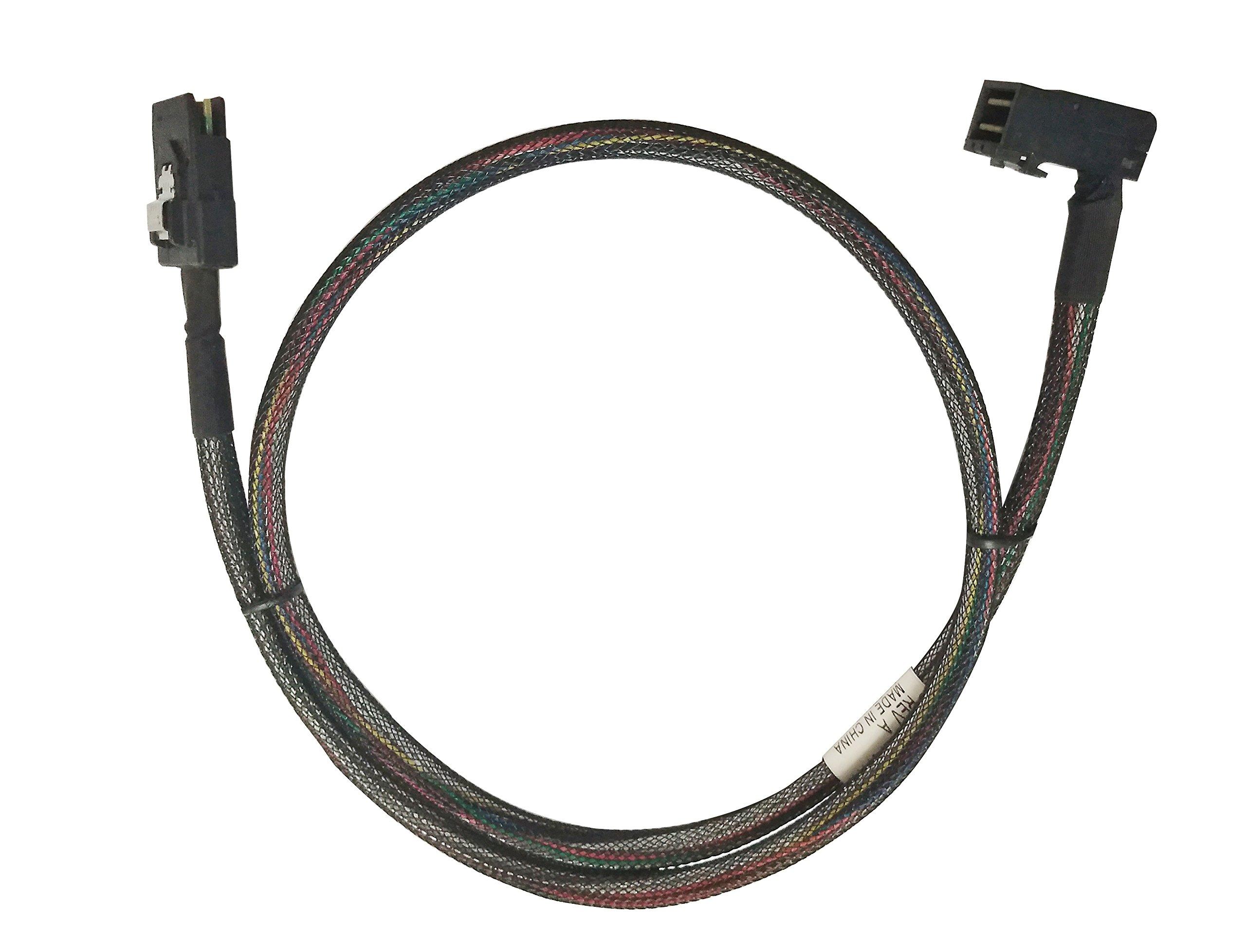to 2x ext 6G cable 30AWG 1M ext SFF-8088 SFF-8088 mini-SAS mini-SAS