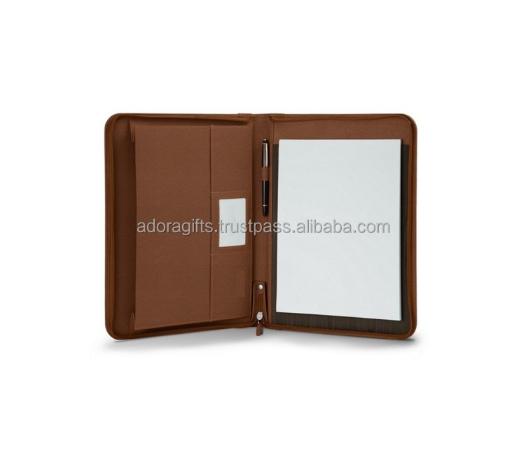 A4 Padfolio Met Rits/Draagbare Professionele Business Portfolio Padfolio Map Document Case