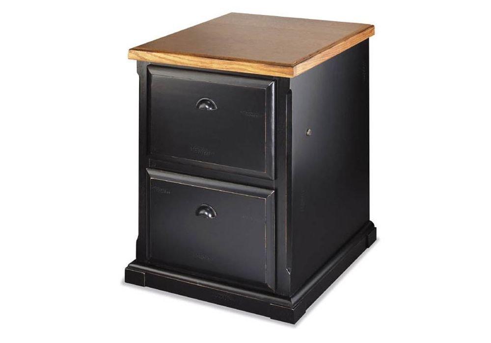 """Southampton Onyx Two Drawer Vertical File Medium Oak Top/Southampton Black Onyx Dimensions: 23""""W x 24""""D x 30""""H Weight: 125 lbs."""