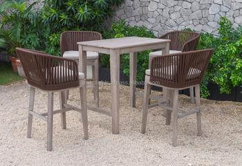 Weiden Pvc Hölzerne Rattanstange Stellte Gartenmöbel Im Freien Ein