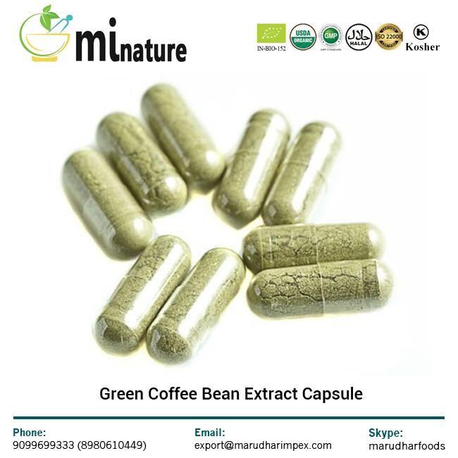 extracto de café verde en grano saludable