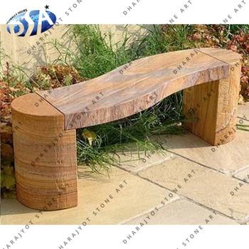 S Shaped Beige Rainbow Sandstone Garden Bench Buy Rainbow