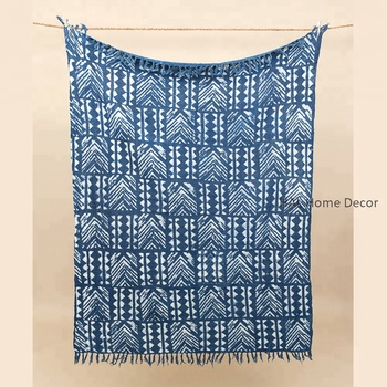 916d65289 Cheap Wholesale Blankets Cotton Throw With Tassel Fringe,Hand Block Printed  Indian Handmade Cotton Throw Blanket - Buy Throw Blanket,Blanket ...