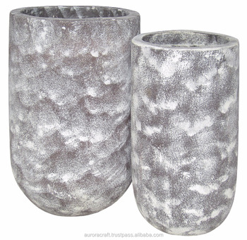 Handmade Decoration Lightweight Cement Planter/ Lightweight Concrete Planters Vase New Design
