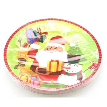 Christmas Party Supplies , Paper Plate Cup Napkin Tableware Set