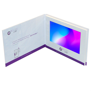 10 inch HD LCD screen video brochure card business greeting card for promotion