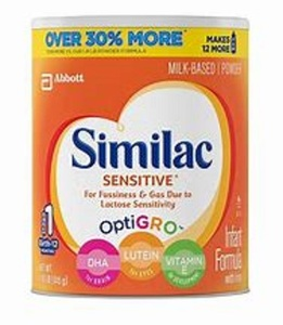 NEW Simi-lac Sensitive OptiGro Infant Baby Formula Powder