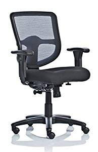 "Enwork Mesh Task Chair Overall Dimensions: 27 1/2""W X 25""D 37 3/4""-42""H Seat Height: 18 3/4"" To 22 1/4"" Seat Depth: 19 3/4"" Seat Width: 19 1/2"" - Black"