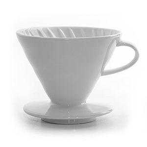 Wholesale price white ceramic coffee dripper filter