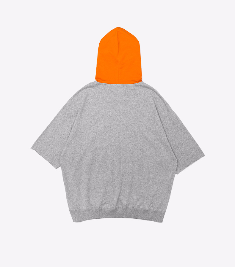 2021 Bat Wing Sleeves Hip Hop Oversized Tshirt for Men with Hood