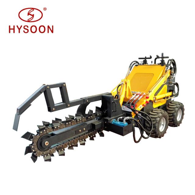 China 23hp Chain Trenching Mini Trencher Digger Machine - Buy ...