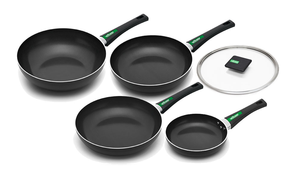 Film gelamineerd non stick pan 26 cm rvs handvat type pan silkway korea
