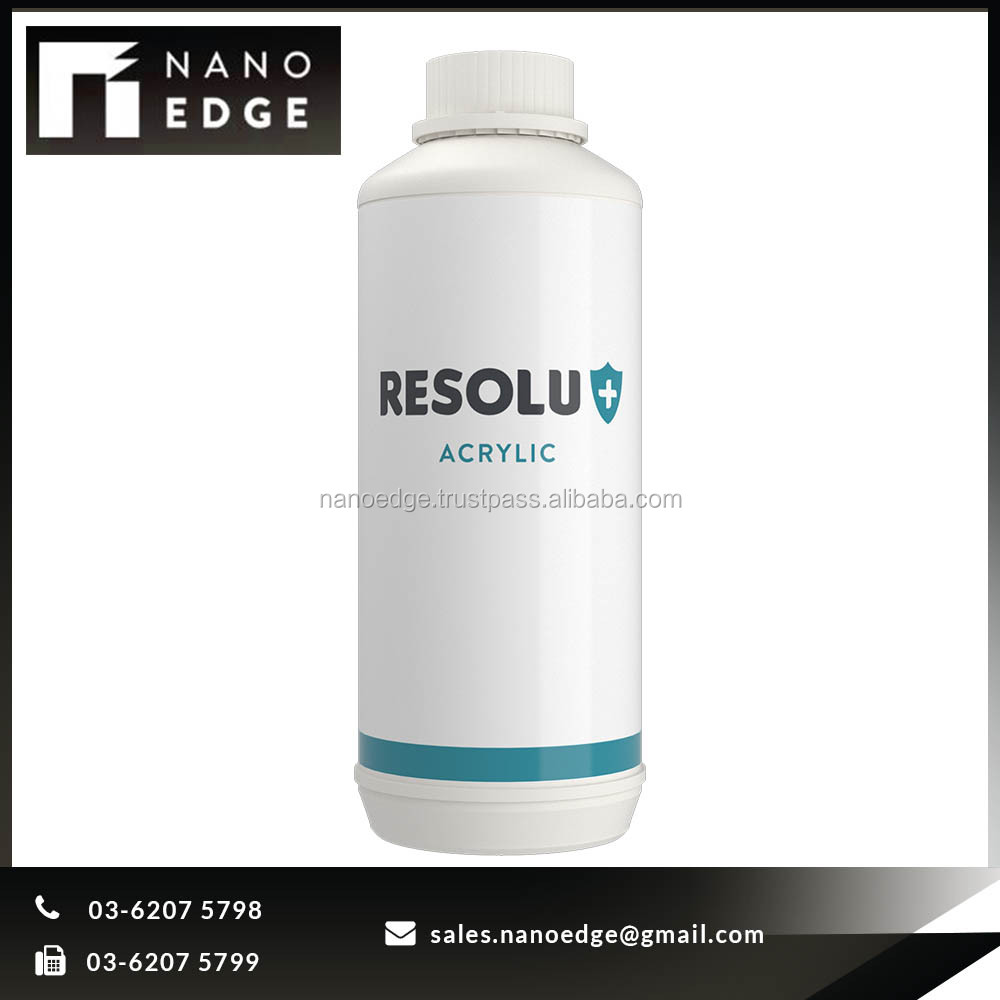 Waterbased Latex-Acrylic Clear Coat RESOLU+ ACRYLIC Polymer Liquid Resin Transparent Price