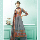 Ganga Ethnical Russian Silk Printed With Dimond Work partywear Salwar Kameez Suit for Indian Pakistani Women