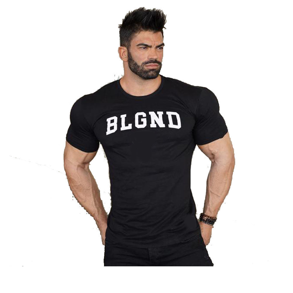 Slim Fit Bodybuilders T Shirt Spor giymek