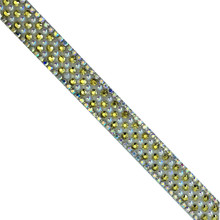 Groothandel Ijzer op Decoratieve <span class=keywords><strong>Hotfix</strong></span> Glas Kleine Ronde Bead Trim Strass Applique <span class=keywords><strong>Tape</strong></span>