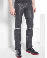 men's New Slim fit Stylish Soft Lambskin Genuine Leather Designer Wear pants