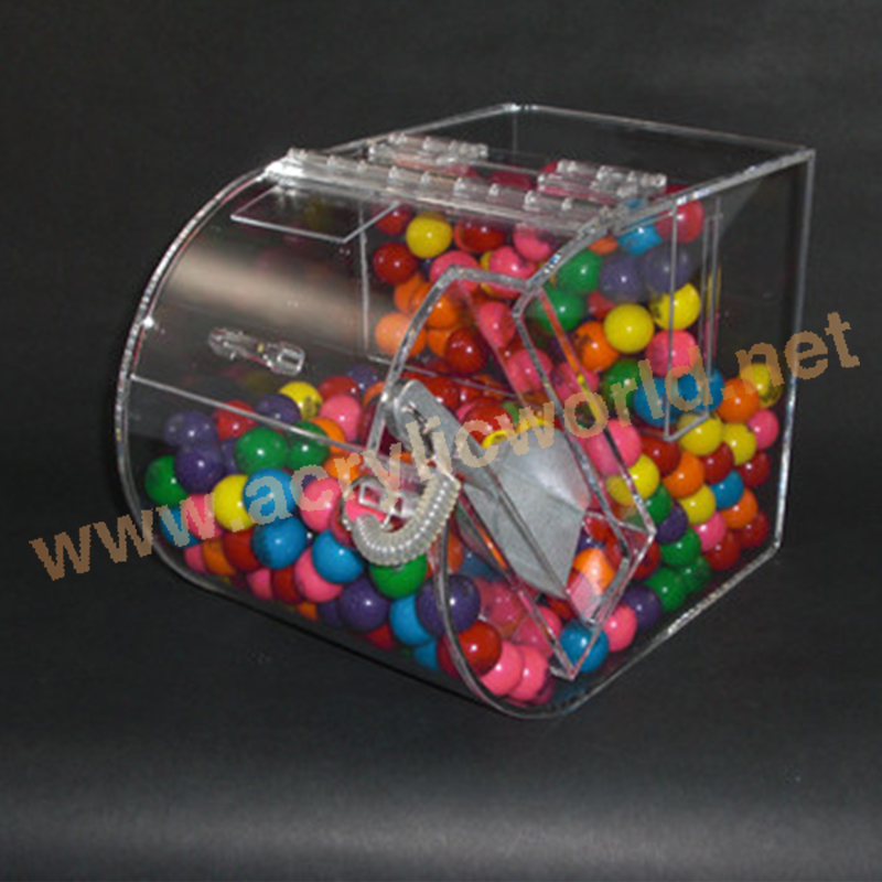retail acrylic candy bins display/ perspex candy nut dispensers/ counter top acrylic candy bins