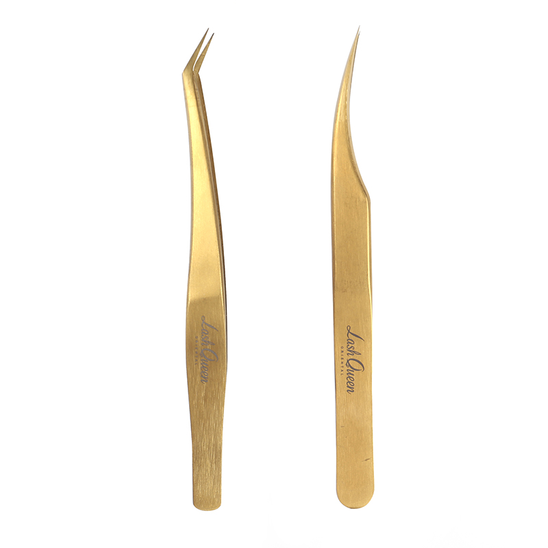 Eyelash tweezers stainless steel tweezers Golden Extension tweezers фото