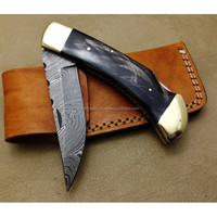 Custom Handmade Top Quality Damascus Steel Hunting Knife - Pocket Knife - Folding Knife (ZR392)
