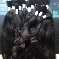 Double drawn natural black straight bulk Vietnamese hair virgin remy human hair extension high quality wholesale price