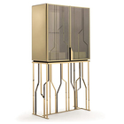 Modern gold display wine glass cabinet