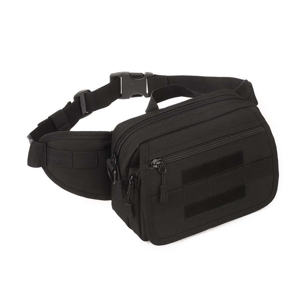 Huntvp Tactical Waist Pack 2 in 1 Portable Fanny Pack Outdoor Hiking Travel Large Army Waist Bag Military Waist Pack for Daily Life Cycling Camping Hiking Hunting Fishing Shopping