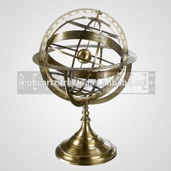 Decorative Br Armillary Sphere Globe Sundial