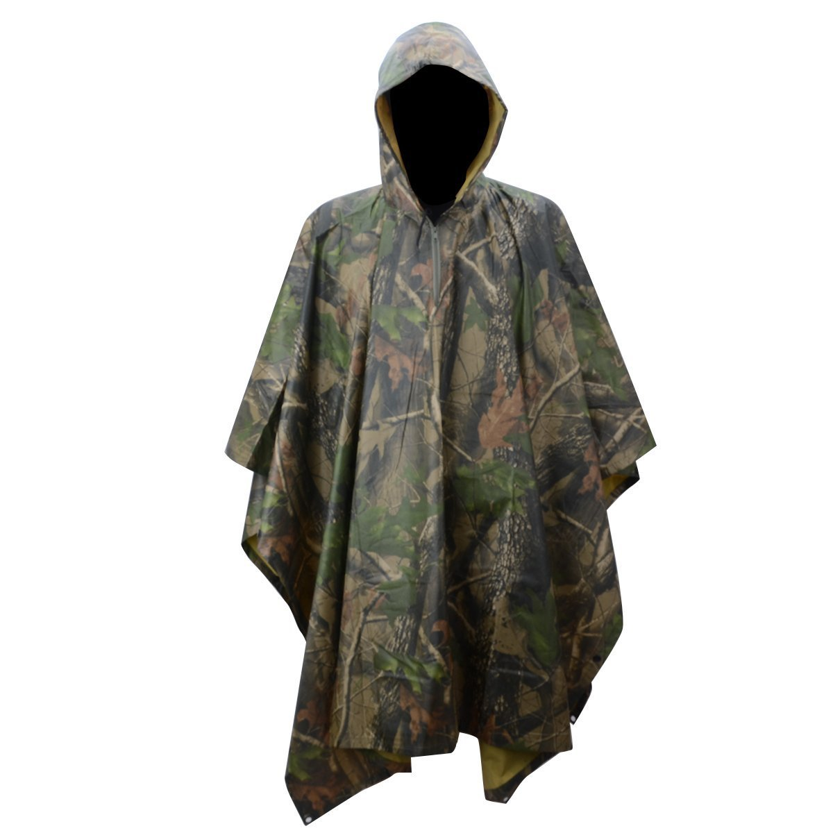 0aa441de6bab4 Get Quotations · XTACER Rain Poncho Waterproof Ripstop Hooded Nylon Festival  Poncho for Hunting Camping Military Use