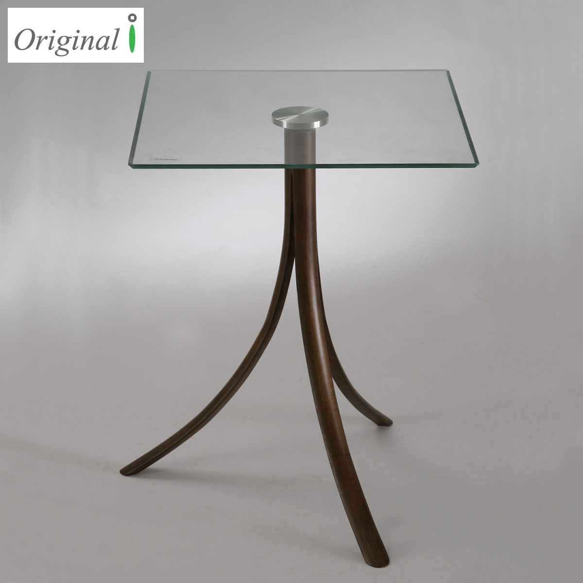 Solid wood modern side table / Glass top center table design