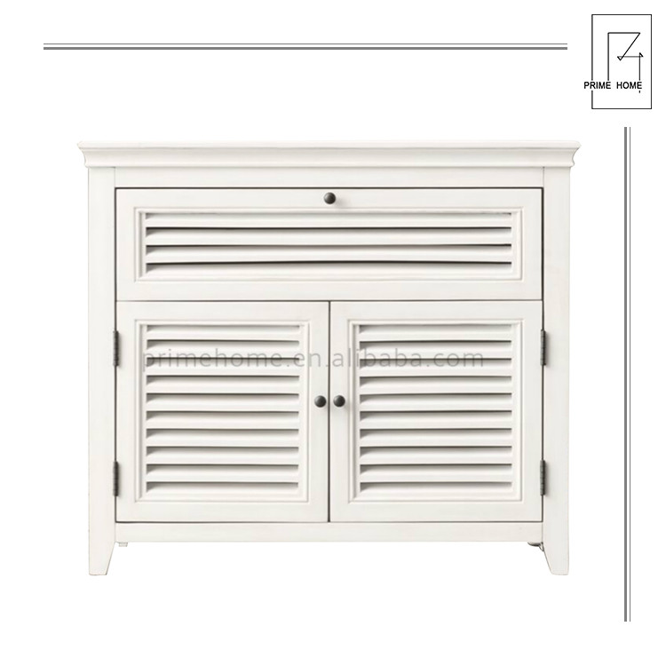 Hot Selling Good Quality Storage White Antique Wood Bedside Cabinet