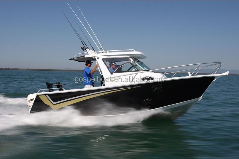 21ft v hull welded aluminum cabin fishing tuna boats for sale