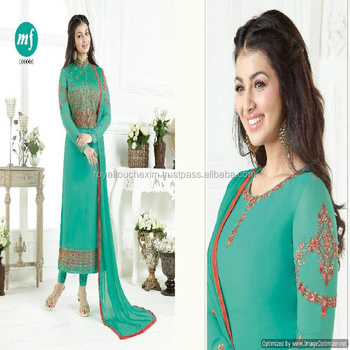 Designer Long Net Salwar Kameez With Koti Jacket Indian Ladies Suits