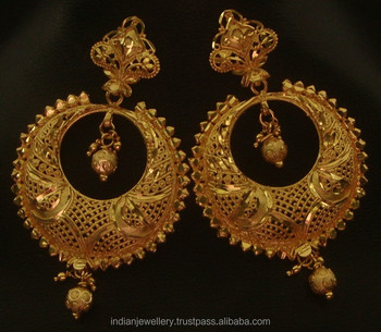 Gold Plated Jewellery Dangles Earrings Exporter Jacket Manufacturer Chandelier Earring