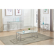Morden Style Coffee Table Set Glass&Marble Top Golden Frame Stainless Steel Frame , 1 Piece