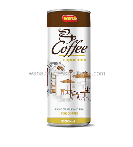 Iced Coffee Drinks In Cans Capuchino 250ml