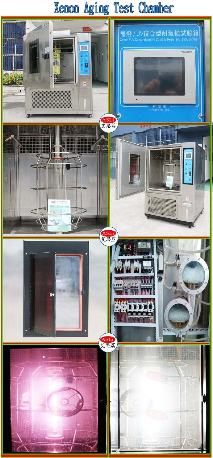 ASLi Brand Simulated Solar Radiation Environmental Test Chamber / Xenon Lamp Price / Sun Xenon Test Chambers