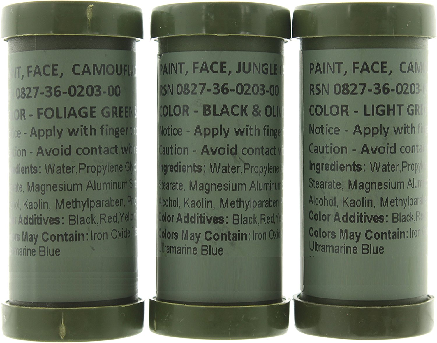 Camo Face Paint, NATO Camouflage Military Makeup Paint Sticks