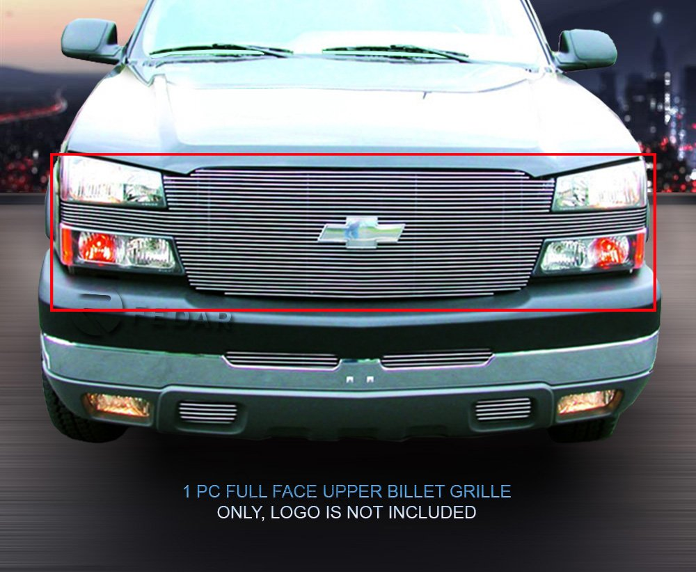 For Chevy Avalanche 2003-2006 Stainless Steel Black Rivet Mesh Grille