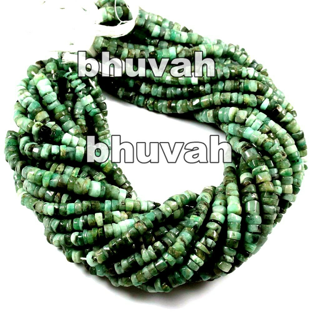 13 inch Corporate Wedding Return Gift Beads Strand Emerald Tyre Shape Gemstone 7pcs