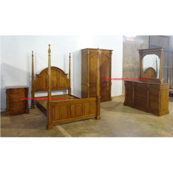 Four Posters Bedroom Set Indonesia Teak Wood Furniture Teak