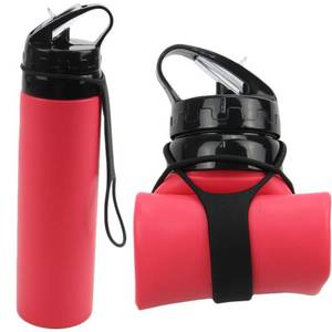 Eco-friendly Collapsible Silicone Foldable Water Bottle