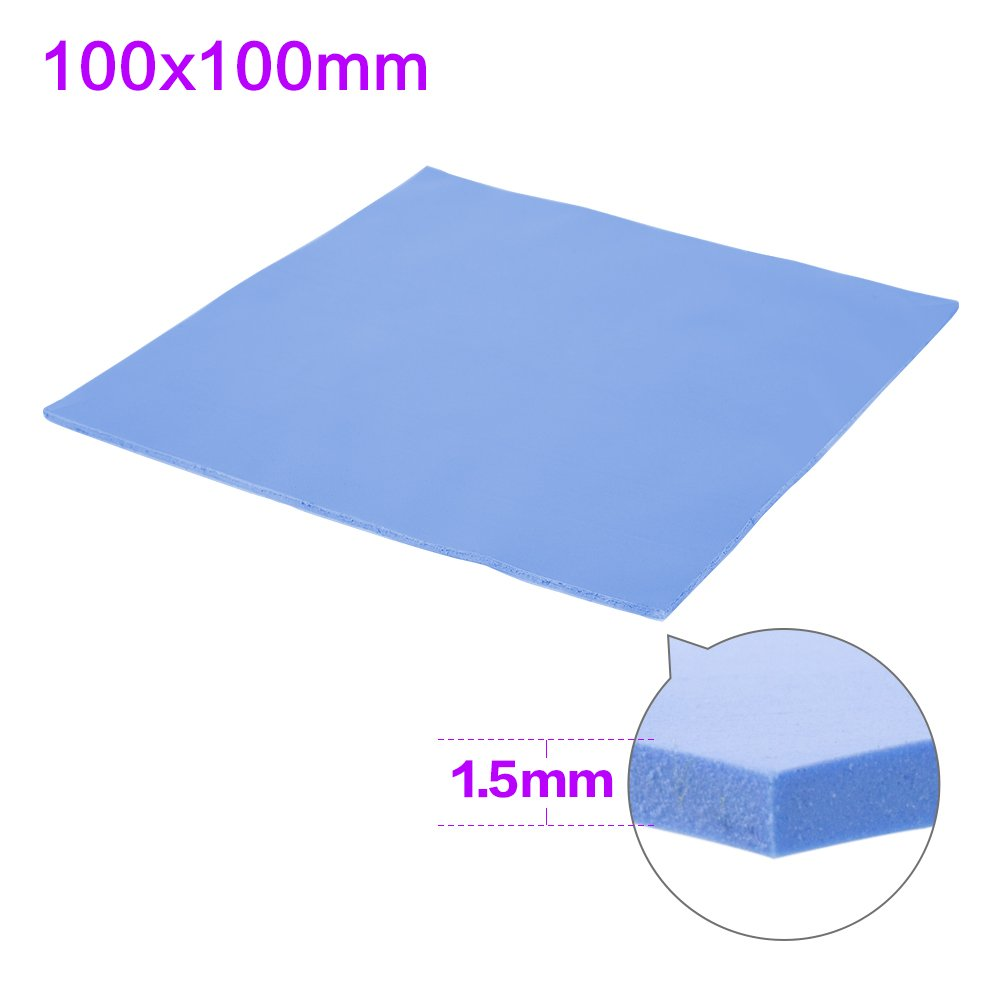 SHINESTAR Soft Thermal Silicone Conductive Pad Conductivity Heatsink Cooling Sheet Insulation Paste for Computer / Laptop / Notebook / GPU / CPU / VGA / IC / LED (100 x 100 x 1.5mm)
