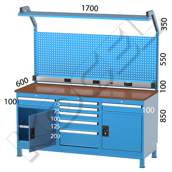 Astounding Heavy Duty Metal Workbench With Drawer Cabinet Tool Panel Lighting System Buy Metal Workbench Heavy Duty Workbench Steel Work Table Product On Ocoug Best Dining Table And Chair Ideas Images Ocougorg