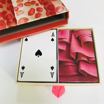Customized top quality paper playing cards poker set poker cards with drawer box
