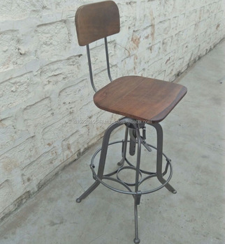 Parlor Metal Height Adjule Stool With Back Vintage Stools And Chairs India Bar High Chair
