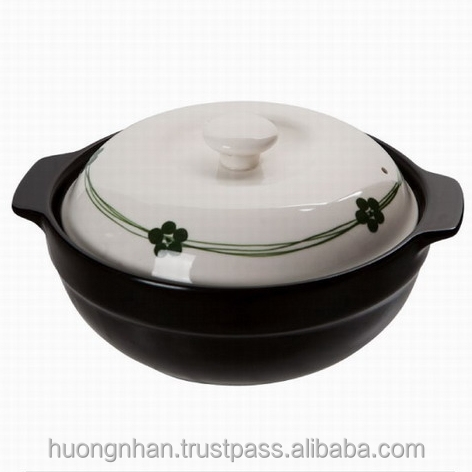 Ceramic Cookware Clay Cooking Enamel - 504A Ceramic Pot 25cm - Harmony Pattern