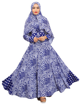 New Dubai Umbrella Style 2018 Printed Abaya Burkha Designs With Waist Belt